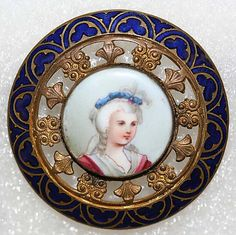 Button Porcelain Button date: ca. 1880 Culture: British Credit Line: From the Hanna S. Kohn Collection, 1951