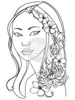 Jamie Dougherty Bloom Girl Cling Stamp - Jing Bloom by Prima Marketing found at fotobella.com