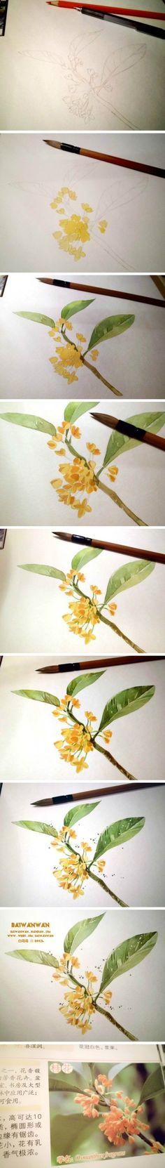 Работа с цветом, акварель