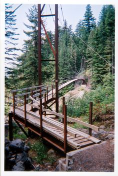 For our visit to Mt Rainier - Tahoma Creek Suspension Bridge  Photo by Daniel Keebler