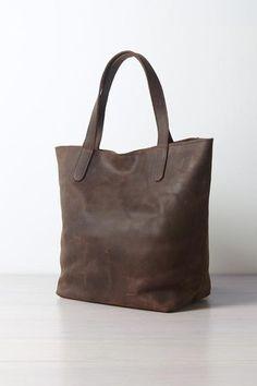 Said Leather Tote via Enrou. $165