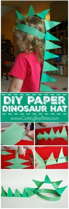 DIY Paper Dinosaur H