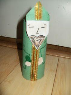 St Patrick (craft) Haz un St. Patricio reciclando materiales.
