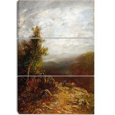 Design Art 'Ralph Albert Blakelock - Above the Clouds' Art Print - 28Wx36H Inches - 3 Panels
