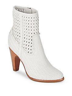 7f5d0426dd28 Frye - Celeste Woven Leather Booties Frye Shoes