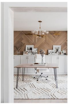 Dining Room Office, Home Office Space, Office Walls, Home Office Design, Home Office Decor, House Design, Office Desk, At Home Office Ideas, Home Office Table
