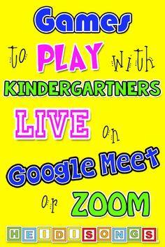 Sight Word Games, Sight Words, Virtual Class, Virtual Games, Kindergarten Games, Preschool, Class Meetings, Humor, Play