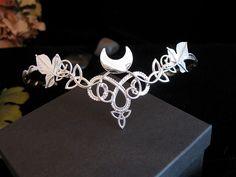 Celtic Wedding Headpieces | Celtic Leaves Crescent Moon Bridal Wedding Headpiece Tiara Circlet for ...
