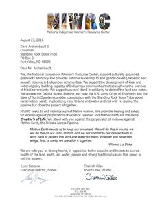 EMAIL rbalog@niwrc.org to add your org to this letter. Protect Mother Earth, Sacred Water & honoring treaties