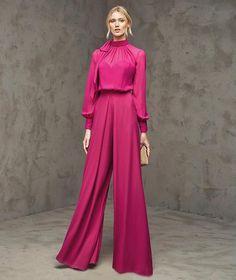 Pronovias > FLORIA - Party one-piece trousers with long sleeves Modest Fashion, Hijab Fashion, Fashion Dresses, Couture Mode, Couture Fashion, Hijab Stile, Bridal Fashion Week, Mode Hijab, Dress To Impress