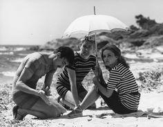 ©Raymond Cauchetier film Jules & Jim with Jeanne Moreau.