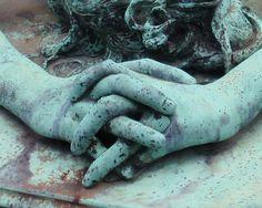 Verdigris Hands (folded in grief)