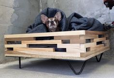 This simple yet stylish and contemporary designed pallet wood dog bed is allowing your dog to have an airy aboard and comfy space to sleep. This again can be made bigger or small according to your dog's size. Make it comfortable with a big fluffy cushion and a soft blanket. What else a dog need?