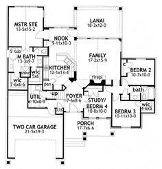 "Level 1  HWEPL76580   PRIMARY STYLE:Cottage BEDROOMS:4 BATHS:2 STORIES:1 GARAGE BAYS:2 LIVING AREA:1,764 sq. ft. BONUS SPACE:350 sq. ft. WIDTH/DEPTH:58' 5"" x 61' 11"""
