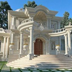 Classic House Architecture Ideas For Inspiration Classic House Exterior, Classic House Design, Dream House Exterior, Dream Home Design, Modern House Design, Dream Mansion, Mansion Interior, Luxury Homes Dream Houses, Mansions Homes