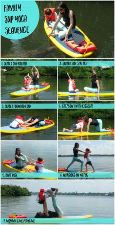 Family SUP Yoga Sequence: Mommy and Me paddle board yoga with Chandra Reilly at Tidal Bliss Yoga - check out the blog for the full sequence!