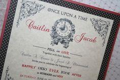 Fairytale Wedding Invitation - Vintage Style. $50.00, via Etsy.
