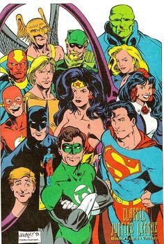 Justice League of America Justice League Comics, Dc Comics Superheroes, Dc Comics Characters, Old Comics, Dc Comics Art, Vintage Comics, Black Comics, Superman, Batman