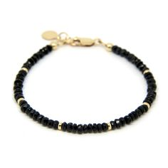 Black Spinel bracelet, gemstone bracelet. by SincerityJewellery on Etsy https://www.etsy.com/listing/386976408/black-spinel-bracelet-gemstone-bracelet