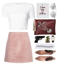 """""""Untitled #3"""" by sibuea ❤ liked on Polyvore featuring Rosetta Getty, Acne Studios, Sam Edelman, Christian Dior and Daniel Wellington"""