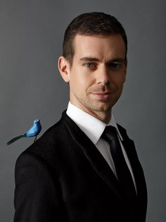 """CHIRP ON HIS SHOULDER Jack Dorsey, 34, photographed in New York City, has 1.6 million Twitter """"followers."""" Photograph by John Huba."""