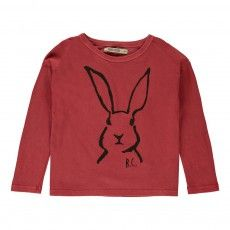 T-shirt Lapin Rouge délavé BOBO CHOSES