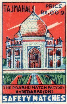 复古火柴盒插画设计印度