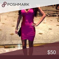 Bandage dress for HMS Hot pink, perfect for Vegas! Hot Miami Styles Dresses Mini