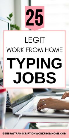 25 Legit Online Typing Jobs you can do from Home. Get legitimate online typing jobs and data entry jobs with legitimate companies. Find out how you can make money with your typing skills and get 25 companies that pay you to do typing work from home. Online Typing Jobs, Online Data Entry Jobs, Online Jobs, Work From Home Typing, Legit Work From Home, Work From Home Jobs, Data Entry From Home, Distorted Text, Data Entry Clerk