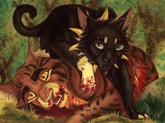 Tigerstar vs Scourge by savann13.deviantart.com on @deviantART