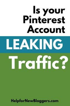 Concerned that your Pinterest account may be leaking massive traffic?  Well, let's fix that.  Here are 5 great ways to fix those traffic leaks! Social Media Marketing, Digital Marketing, Pinterest For Business, Pinterest Account, Pinterest Marketing, 6 Years, Business Tips, Diy Projects Etsy, Accounting
