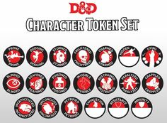 Geeky image regarding d&d monster tokens printable
