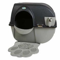 hagen catit hooded cat litter box. Elite Roll N\u0027 Clean Self Cleaning Litter Box With Mat Hagen Catit Hooded Cat 0