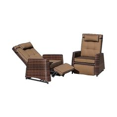 Patio Club Chair: Christopher Knight Home 2-Piece Wicker Patio... ($960) ❤ liked on Polyvore featuring home, outdoors, patio furniture, outdoor chairs, outdoor wicker patio chairs, outdoors patio furniture, outdoor patio furniture, outdoor wicker chairs and brown club chair