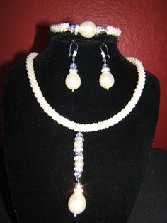 Rope Style Necklace, Earrings and Bracelet