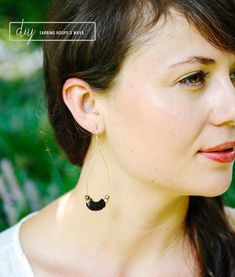 3 Ways to DIY Your Own Earrings (In 5 Minutes or Less)   http://hellonatural.co/diy-earrings-3-ways/