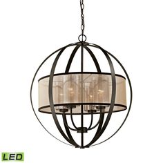 ELK Lighting 57029/4-LED Diffusion Collection Oil Rubbed Bronze Finish