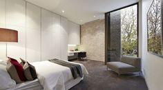 Sleek and modern bedroom with plenty of shelf space | Modern Interior Design & Furniture – Decoist