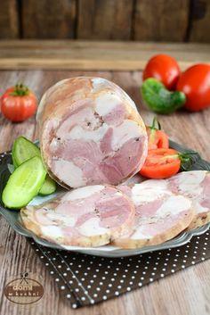 Salceson z szynkowara Home Made Sausage, Cold Cuts, Polish Recipes, Smoking Meat, Charcuterie, Sauce, Potato Salad, Food To Make, Stuffed Mushrooms