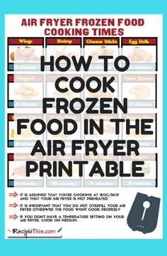 Air Fryer Frozen Food For Beginners – how to cook all of your favourite frozen foods in the air fryer printable ebook. Air Fryer Frozen Food For Beginners – how to cook all of your favourite frozen foods in the air fryer printable ebook. Air Fryer Recipes Vegetarian, Air Fryer Recipes Vegetables, Air Fryer Recipes Snacks, Air Fryer Recipes Low Carb, Air Frier Recipes, Air Fryer Recipes Breakfast, Air Fryer Dinner Recipes, Healthy Recipes, Cooking Recipes