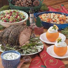french Christmas feast