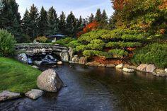 The Japanese garden Nikka Yuko in Canada