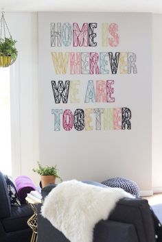 DIY: String art (Home is wherever we are together)