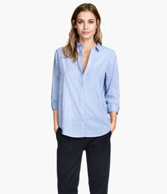 H&M Cotton Shirt - So chic, versatile, and only $24! #mhkinstl #morningmusthaves