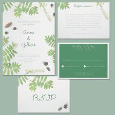 Botanical Suite Printable Wedding Invitations