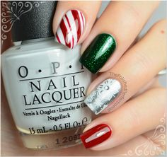 I want these! Christmas Mix & Match Manicure from Amy Grace of The Polished Perfectionist.