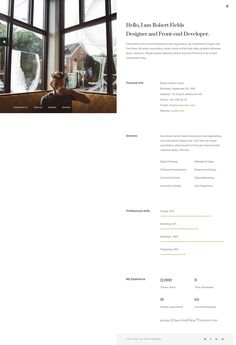 Resume Html Template Sciento — Html Personal Page For Scientists  Template For Resume
