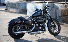 Scarica sfondi 4k, Harley-Davidson Sportster Iron 883, 2017 moto, superbike, moto americane, Harley-Davidson