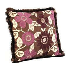Purple and brown pillow, colors I want for my craft/guest room or maybe bedroom
