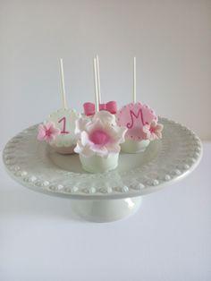 Cakepops para Batizado / Aniversário de Menina